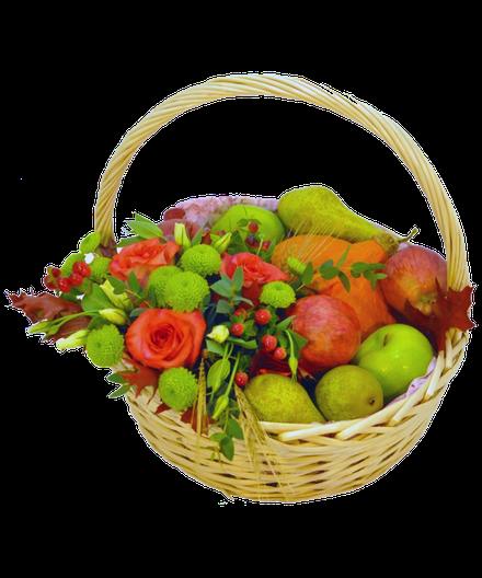 Цветов шакти, харьков букет в корзине с фруктами